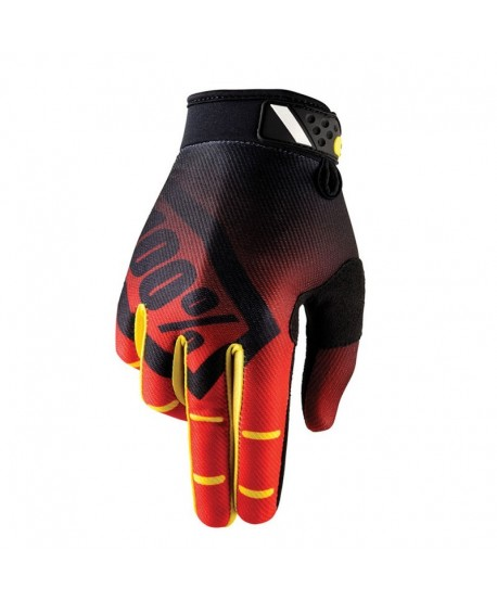 GUANTES 100% RIDEFIT CORPO RED