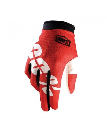 GUANTES 100% ITRACK NEON YELLOW